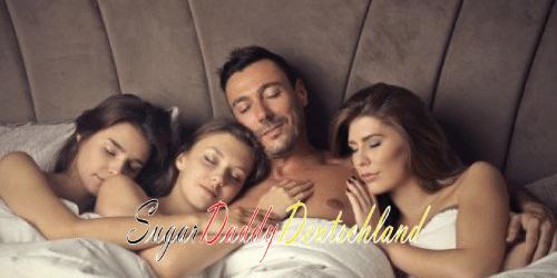 Mehrere Mädchen mit einem Sugardaddy